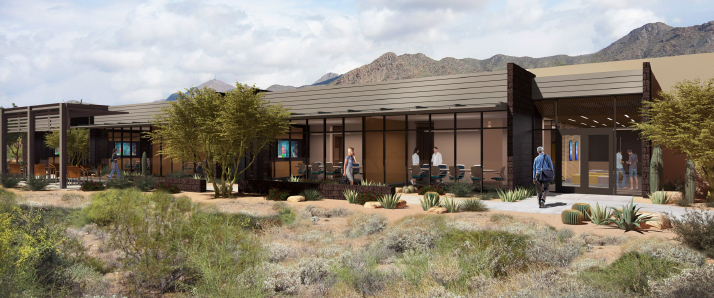 Architectural rendering of Mayo Medical School's campus in Arizona