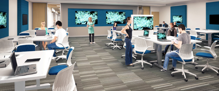 Architectural rendering of classroom at Arizona campus