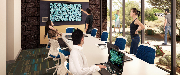 Architectural rendering of student study area at Arizona campus