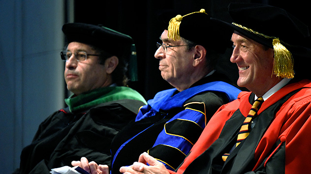 Fredric B. Meyer, M.D., executive dean for education of Mayo Clinic College of Medicine and Science; Robert J. Lefkowitz, M.D., James B. Duke Professor of Medicine at Duke University Medical Center; and John H. Noseworthy, M.D., president and CEO of Mayo Clinic