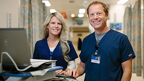 Photo of two Mayo Clinic pharmacists