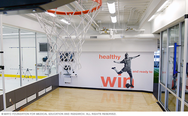Mayo Clinic Sports Medicine Center basketball court