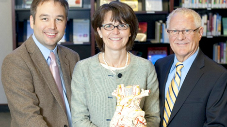 Photo of Joseph J. Maleszewski, M.D.; Marie-Christine Aubry, M.D.; and William D. Edwards, M.D.
