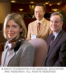 Photo of three Mayo Clinic cardiologists