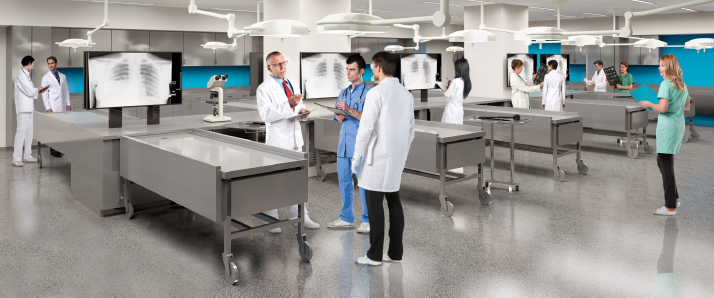 Architectural rendering of anatomy lab at Arizona campus
