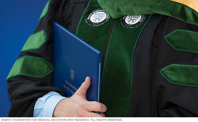 Mayo Clinic College of Medicine and Science graduate with diploma