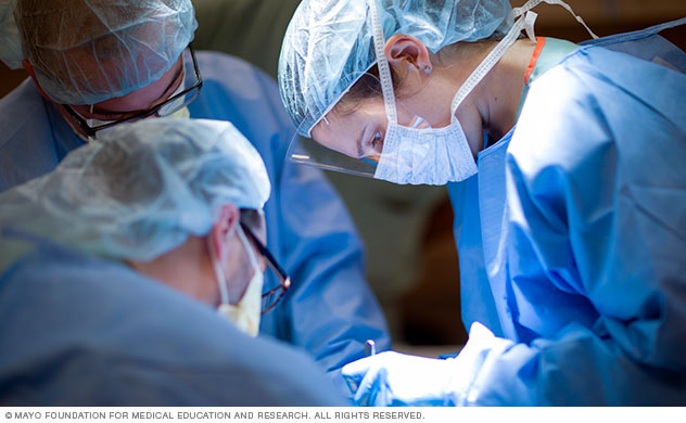 Mayo Clinic critical care surgeons in operating room
