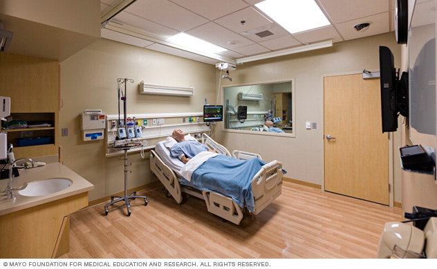 Medical-surgical task training room in the Mayo Clinic Multidisciplinary Simulation Center in Arizona