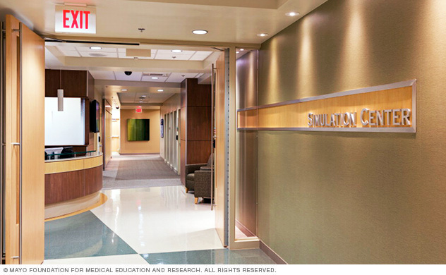 Entryway of the Mayo Clinic Multidisciplinary Simulation Center in Arizona