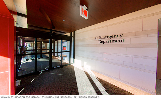 Mayo Clinic emergency department entrance