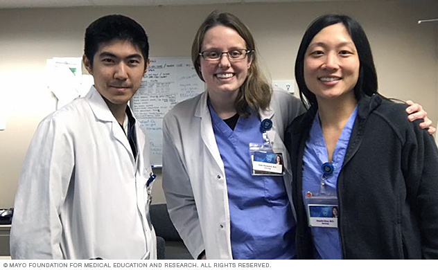 Mayo Clinic neurology residents at hospital