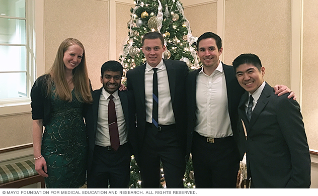 Mayo Clinic neurology residents at party