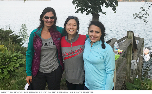 Mayo Clinic neurology residents at lake