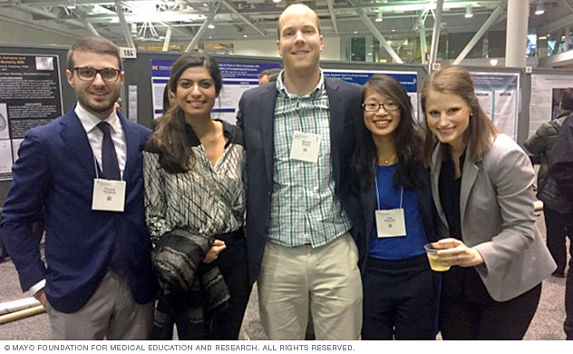 Mayo Clinic neurology residents at professional conference