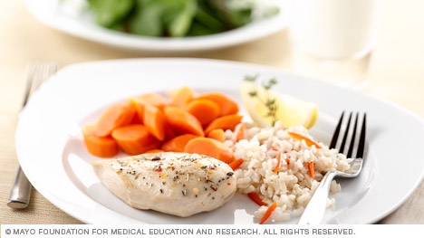 A healthy dinner with proper portions