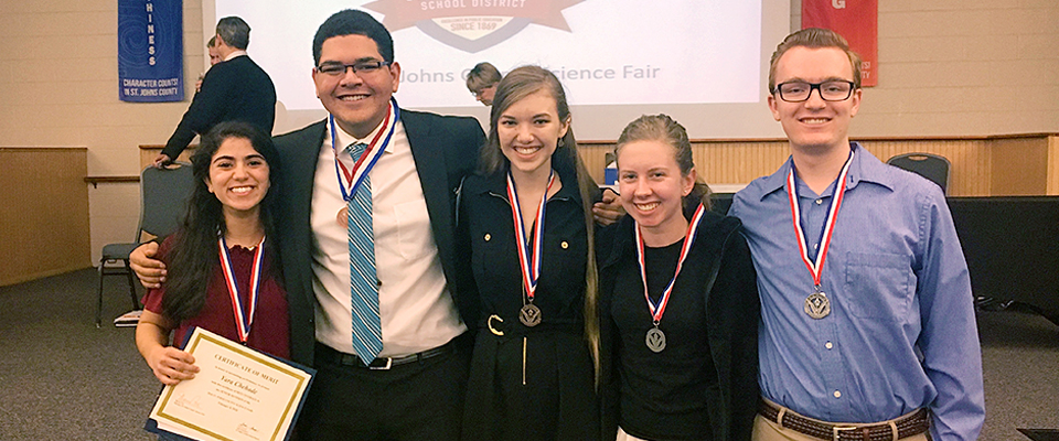 Science fair winners who submitted SPARK Research Mentorship Program projects.