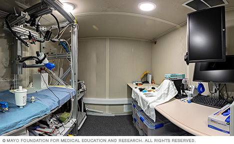 Image of laryngeal function lab space at Mayo Clinic
