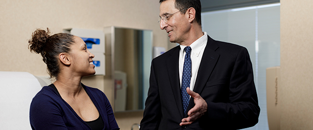 Image of a Mayo Clinic physician with a patient.