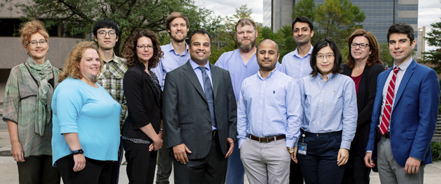 Dr. Purna Kashyap with his Gut Microbiome Laboratory research team at Mayo Clinic's campus in Rochester, Minnesota