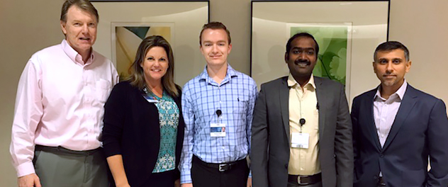 Image showing a Mayo Clinic SPARK Research Mentorship Program scholar with researchers.