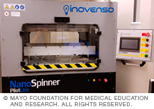 Mayo Clinic Biomaterials and Histomorphometry Core Inovenso NanoSpinner PilotLine Electrospinner