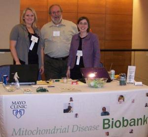 Photo of Biobank staff at the 2011 UMDF Symposium