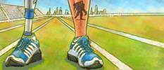 Summary illustration - Preventing falls in wounded warriors