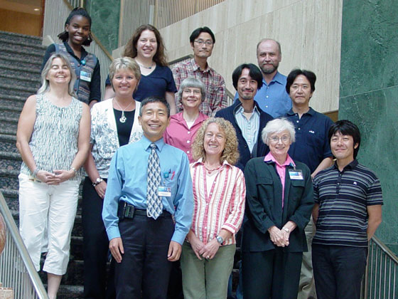 2010 group photo of Dr. Kita's lab.