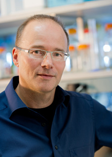 Photograph showing Peter Storz, Ph.D., a Mayo Clinic Cancer Center biochemist and molecular biologist