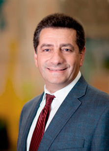 Photograph showing George Vasmatzis, Ph.D., a Mayo Clinic Cancer Center molecular medicine researcher